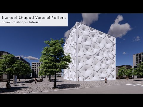 Trumpet-Shaped Voronoi Pattern Rhino Grasshopper Tutorial