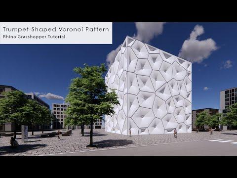 Trumpet-Shaped Voronoi Pattern Rhino Grasshopper Tutorial