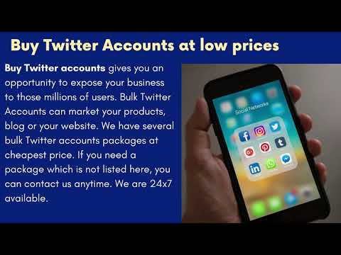 How to buy Twitter accounts with full features?