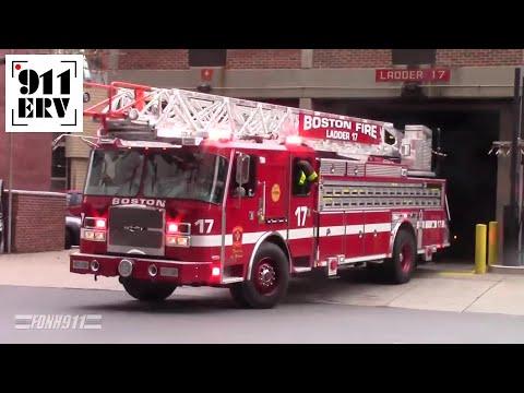 Boston Fire Ladder 17 Responding with Rumbler