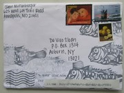 Mail art by Jenn Miltenberger (Maryland, USA)