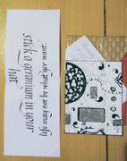 Outgoing Scratch card and calligraphy