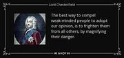 lord chesterfield - weak mind people