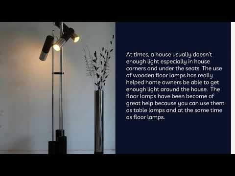 Consider the Lighting Your House with Wooden Floor Lamp