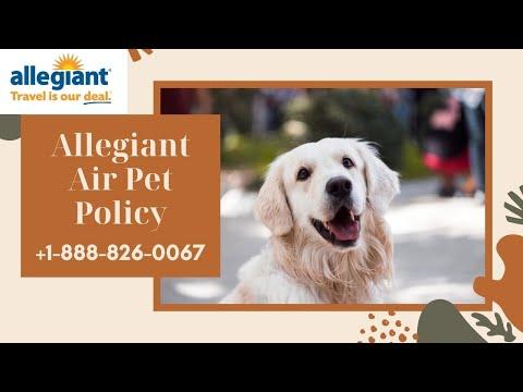+1(888) 826-0067 Allegiant Air Pet Policy