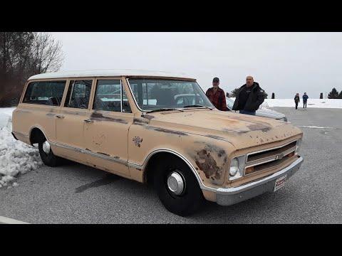 "The Ugly Car Show At the Markets At Shrewsbury Video 3 Nissan Cube ""Cubert"" & 1967 Chevy Suburban"