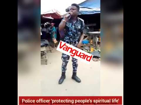 Police officer 'protecting people's spiritual life'
