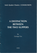 A Distinction Between the Two Suppers