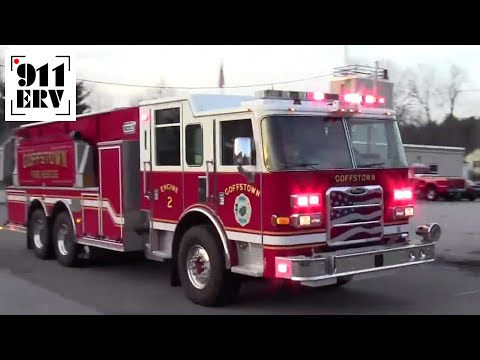 Goffstown, NH Fire Department Ambulance 1 and Engine 2 Responding