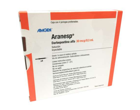Aranesp Precio 30 mcg - Compra en Farmacias especializadas de México