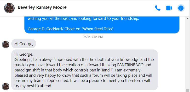Ramsey-Moore's FB Message