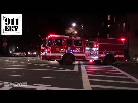 Boston Fire Engine 7, Engine 22, H1, Rescue 1 Responding