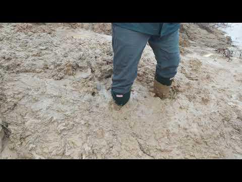 Wellies stuck in deep mud