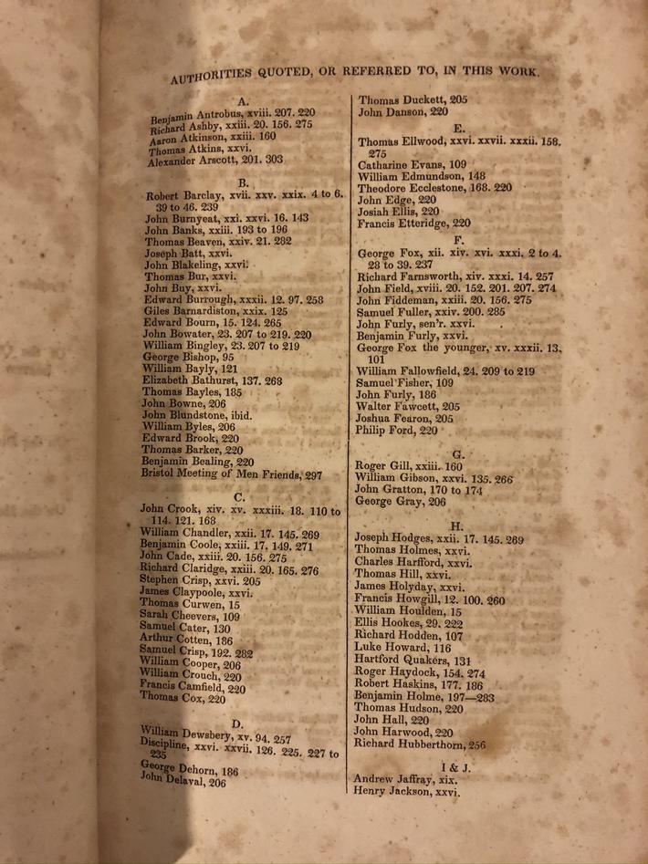 Exposition of Faith. Thomas Evans. 1826. Index.