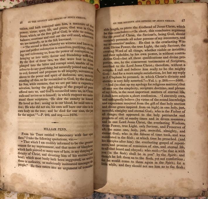 Exposition of Faith. Thomas Evans. 1826. Content.