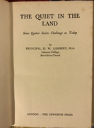 The Quiet in the Land - David Lambert
