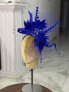 Bluey feather fascinator f