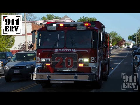 Boston Fire Ex-Engine 20 Responding