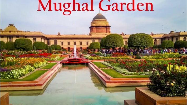 Mughal garden tour with car rental in Delhi