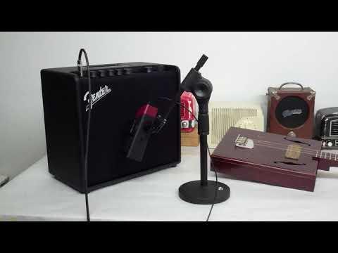 - Fender Mustang Recording - Homemade Cigar Box Guitar - Deep slide Blues on 3 String