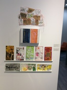 Collection of work from Charlotte Geister on the wall