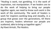 Healing is Work
