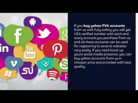 Buy Yahoo PVA Accounts to Improve Online Marketing