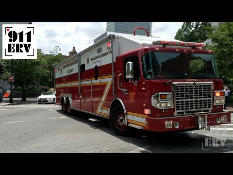 Boston Fire Engine 22, Hazmat 1, and Tango 3 Responding