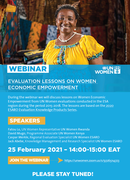Evaluation Lessons on Women Economic Empowerment (WEE)