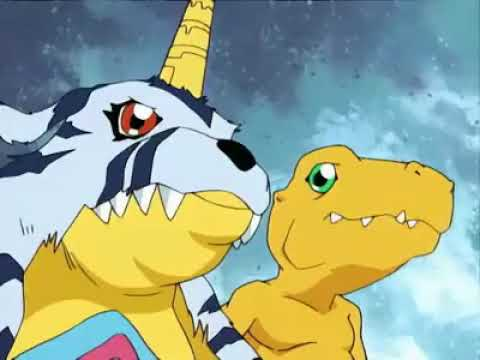 Digimon Adventure- Agumon y Gabumon Alcanzan el nivel Mega