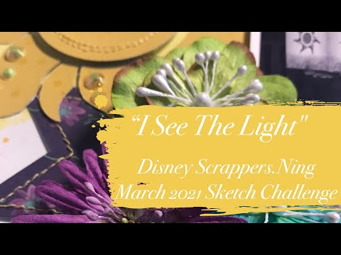 """Scrapbooking Process - """"I See The Light"""""""