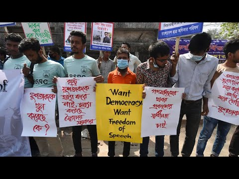 Hundreds march in Bangladesh to protest death of imprisoned writer