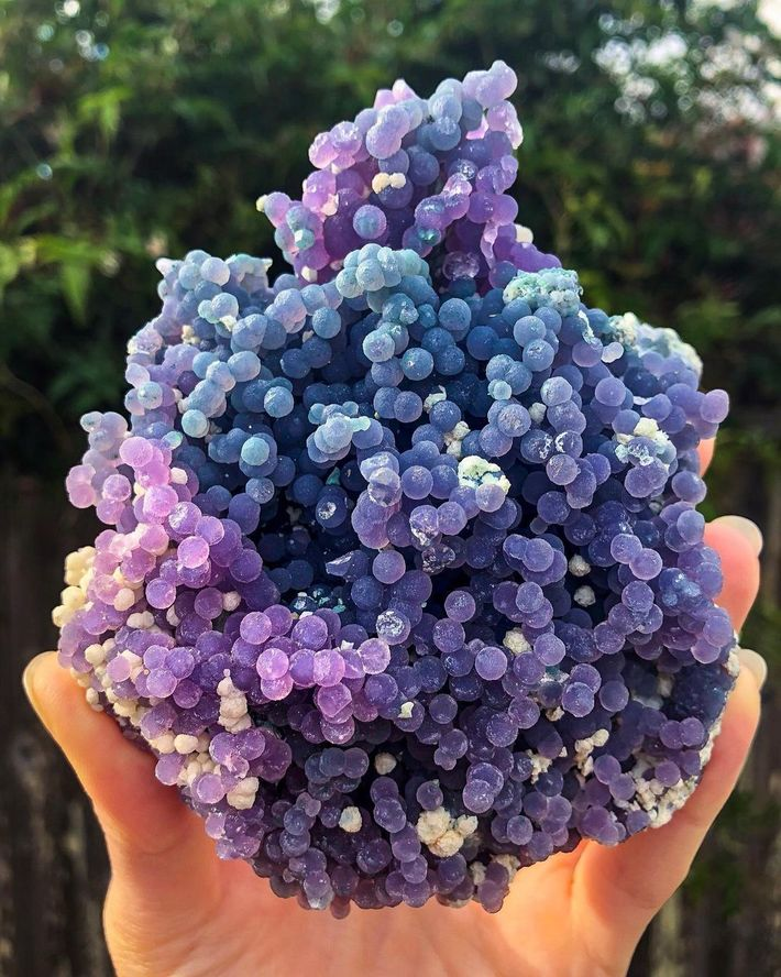 This Grape Agate Crystal Formation