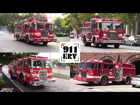 [Compilation] Boston Fire Department Responding