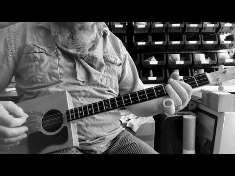 """Learn to play ZZ Top's """" La Grange"""" on 3 string cigar box guitar, with Chickenbone John"""