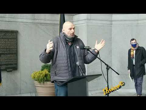 John Fetterman at Press Conference For PLSE Report
