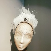 Thermoplastic / feather headband