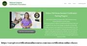 4 week online cna programs