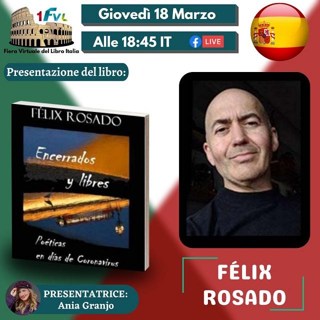 Félix Rosado presenta Encerrados y libres: Poéticas en días de Coronavirus en la feria internacional del libro Italia