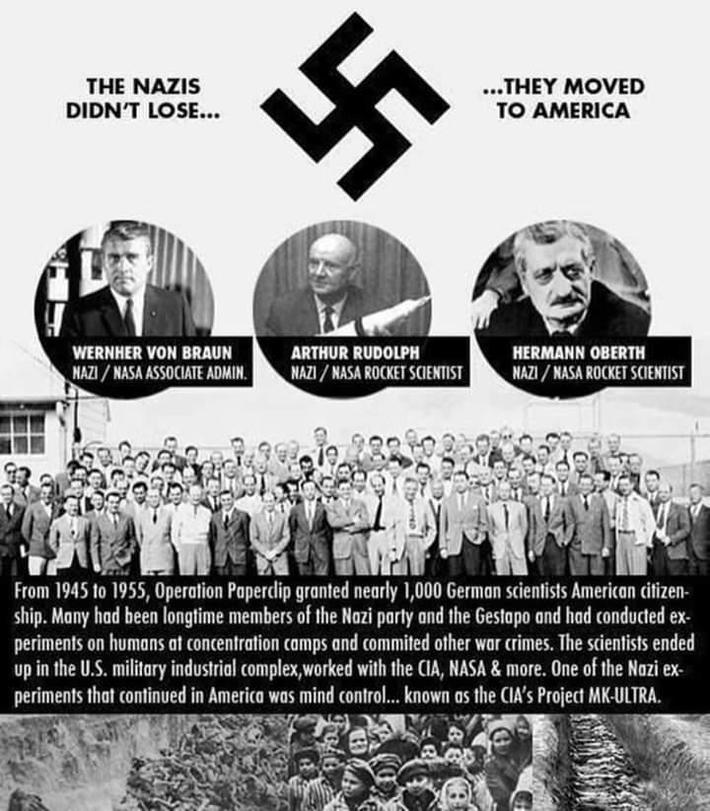 The Nazis Didn't Lose....They Moved To America