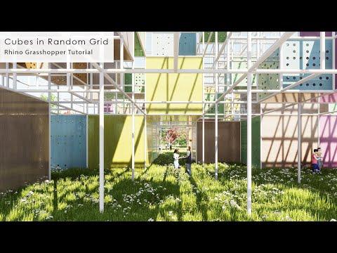 Cubes in Random Grid Rhino Grasshopper Tutorial