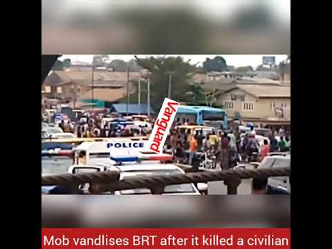 Mob vandlises BRT after it killed civilian