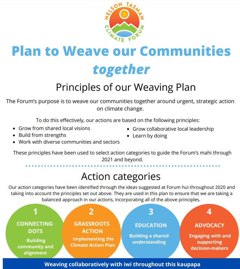 Framework for our Plan to Weave our Communities Together
