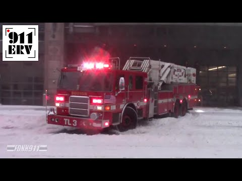Boston Fire Ex-Engine 10 and Ex-Tower Ladder 3 Responding