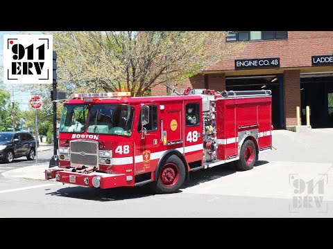 Boston Fire Engine 48 Responding