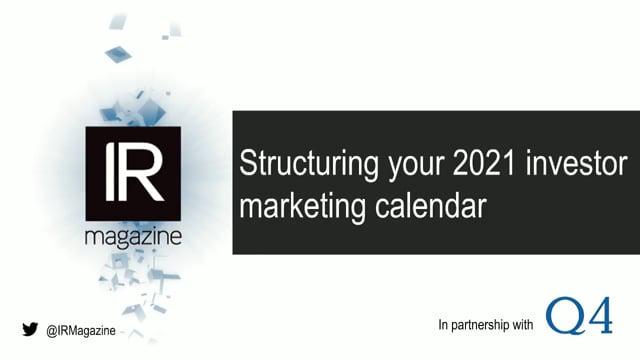 Structuring Your 2021 Investor Marketing Calendar
