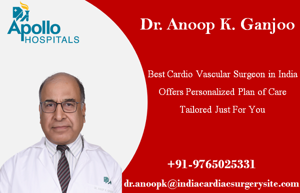 Dr. Anoop K. Ganjoo Best Cardio Vascular Surgeon in India Offers Personalized Plan of Care Tailored Just For You