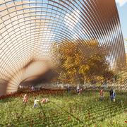 Twisted Louver Structure Pavilion