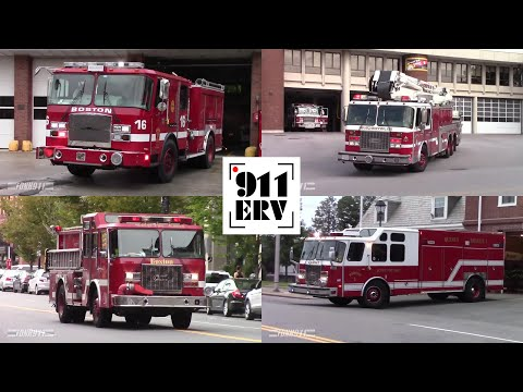 Fire Trucks Responding Compilation 4 | E-One Fire Trucks