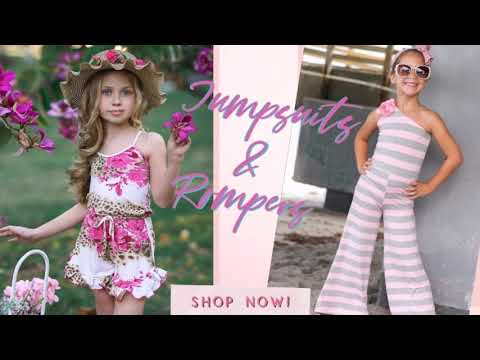 Girls Jumpsuits & Rompers   www.miabellebaby.com